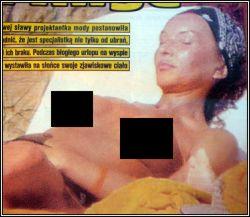 Ewa Minge nago (topless)
